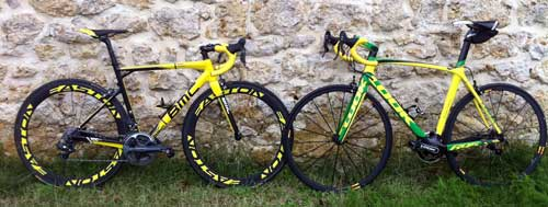 cycle, cycles et nature : magasin de vente et de reparation de velo a bordeaux, Look 695 Brasil edition VS BMC Team Machine SLR 01 TDF Edition