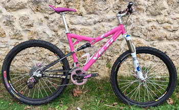 cycles et nature : magasin de vente et de reparation de velo a bordeaux, VTT YETI AS-R PINK 2011 occasion